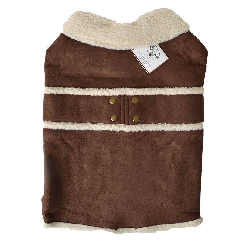 Fashion Pet Shearling Dog Blanket/Coat - Brown